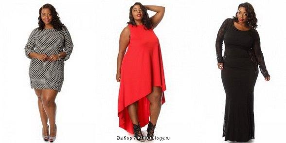 Модные платья для полных девушек 2017 новинки
