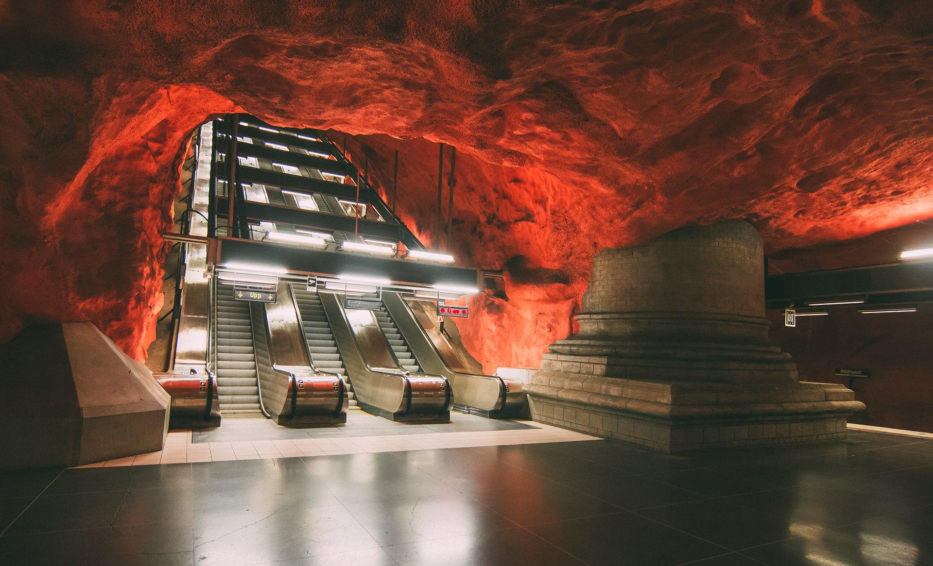 Метро Стокгольма, арт галерея метро, Швеция