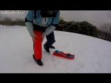 Санки, которые всегда с тобой - насадки на коленях / Sled Legs, the wearable snow sled.