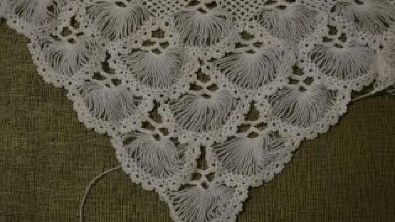 Турецкая шаль, связанная на карточке. Часть 2/5 (Turkish shawl, tied on the card. Part 2)