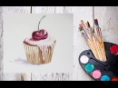 Как нарисовать пирожное акварелью! Dari_Art