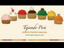 Cupcakes o pastelitos tejidos en crochet amigurumi