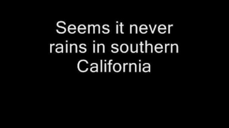 Albert Hammond - It never rains in southern California text