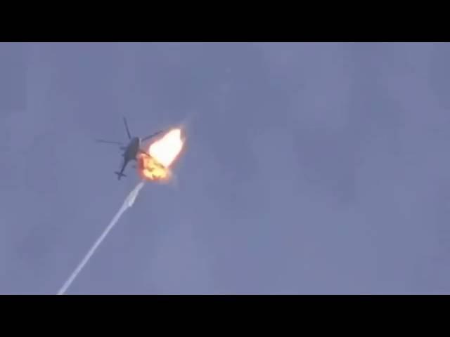 Сирия!! Ракета ПЗРК взорвалась рядом с МИ-8