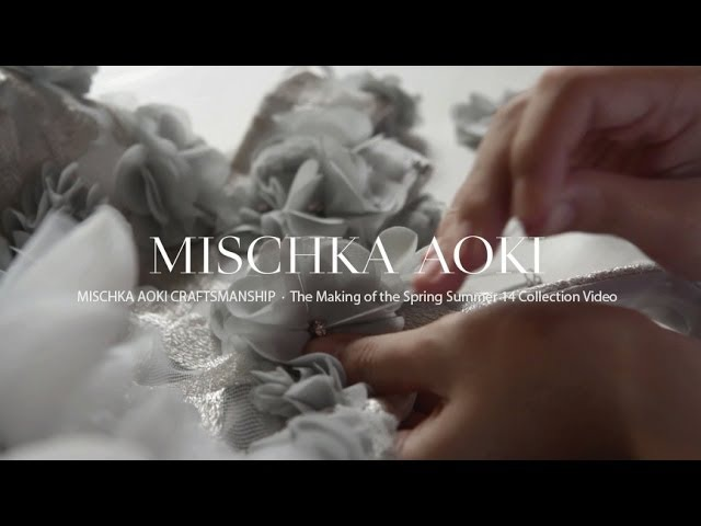 MISCHKA AOKI Craftsmanship The Making of The Spring Summer 14 Couture Collection