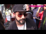 AJ McLean From Backstreet Boys Greets Fans At LL Cool J's Walk Of Fame 1.21.16