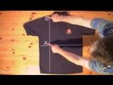 Как сложить футболку за 2 секунды