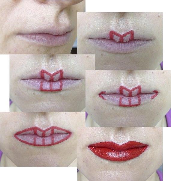 Красивые губы формы как сделать