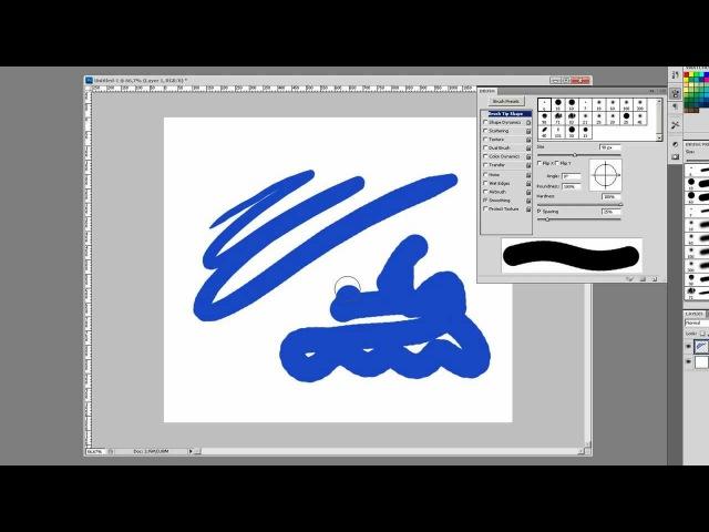 Photoshop CS5 - чувствительность кисти к нажатию
