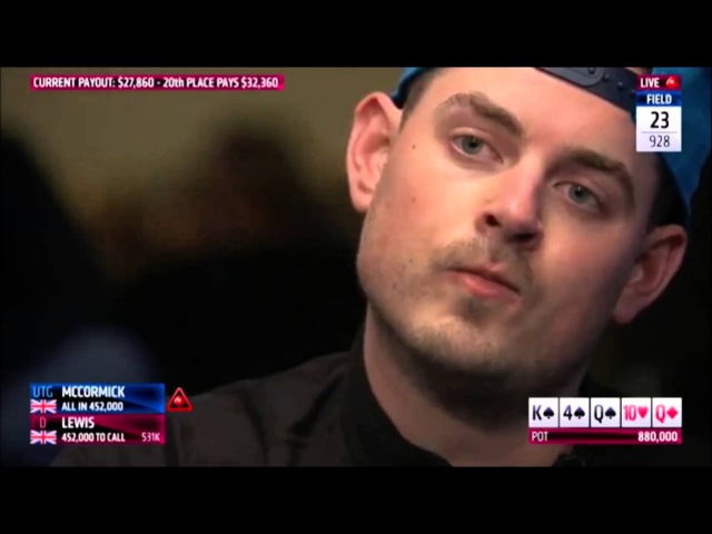 Epic Hand Between McCormick and Lewis at the PCA 2016 Main Event | PokerStars