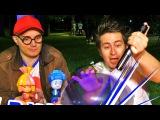 ФИКСИКИ И ДИМА. Новые эксперименты. Лазер прожигает шарик. Видео для детей