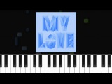 Majid Jordan - ''My Love'' ft Drake Piano Tutorial - Chords - How To Play - Cover