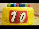 Торт Детский конструктор / Kids construction set cake with marshmallow fondant ♡ English subtitles