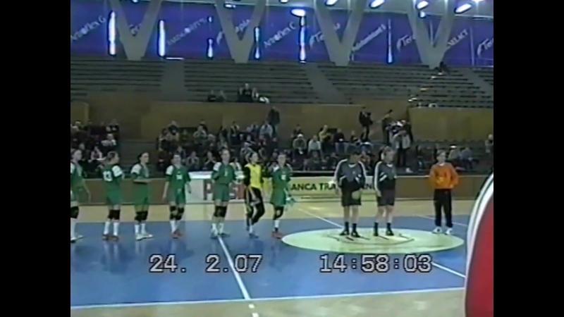 Гандбол. 18 Кубка Европи. ,Jolidon Cluj-Napoca Romania - Економуніверситет Тернопіль Ukraine (24.02.2007)