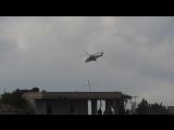 Сирия. Российский Ми-24 барражирует в районе н-п Сальма
