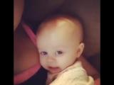 Cute baby copying her mother (I love you u u u)