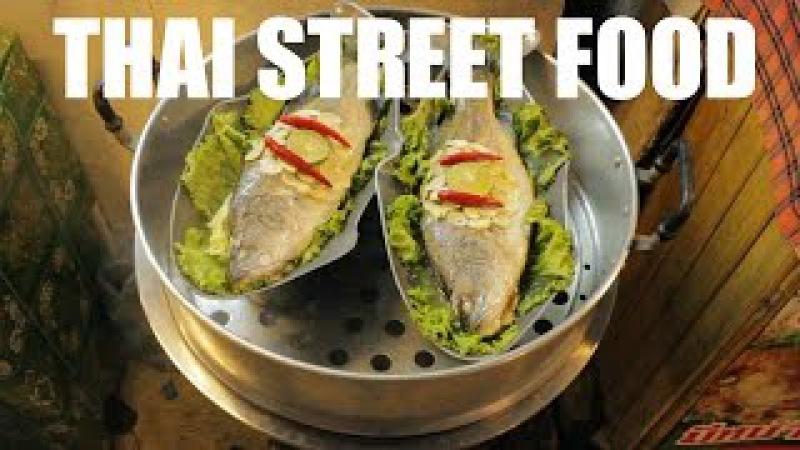 Thai Street Food at Thepprasit Night Market Pattaya Thailand