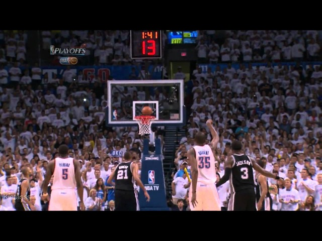 Kevin Durant 34 points vs Spurs full highlights (2012 NBA Playoffs WCF GM6)