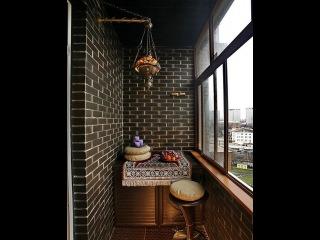 Разнообразие вариантов внутренней отделки балконов и лоджий декоративным камнем.
