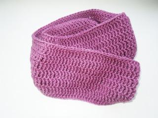 Как связать снуд крючком. How to crochet scarf.