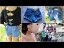 DIY Bow Jean Shorts!+How I wear them!