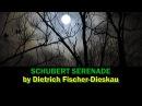 Schubert Serenade Fischer Dieskau with lyrics English translation subtitles