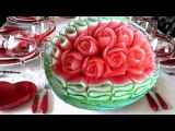 Lesson 32, Carving, การแกะสลักผลไม้, 水果雕刻, Ukiran buah, 果物のカービング, Khắc tr&#