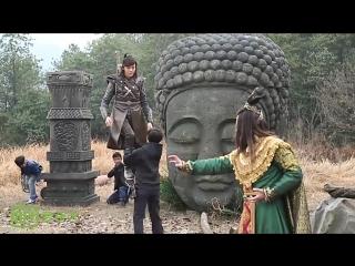 Легенда о Зу - за кадром (боевая сцена на тросах)