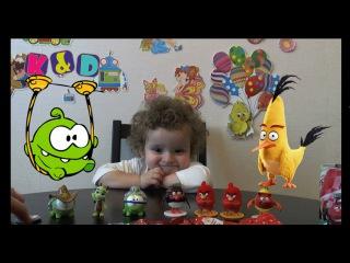 Открываем Свит Боксы Sweet Boxes Om Nom Smeshariki Angry Birds Cars