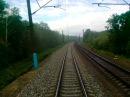 Поезд №045В Воронеж - Москва из окна последнего вагона