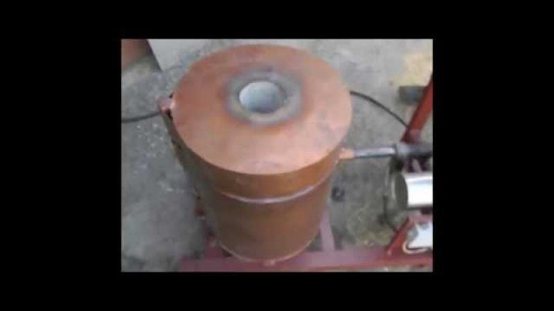 Газовая плавильная печь с турбонадувом для латуни, бронзы и пр. до 3-х кг.