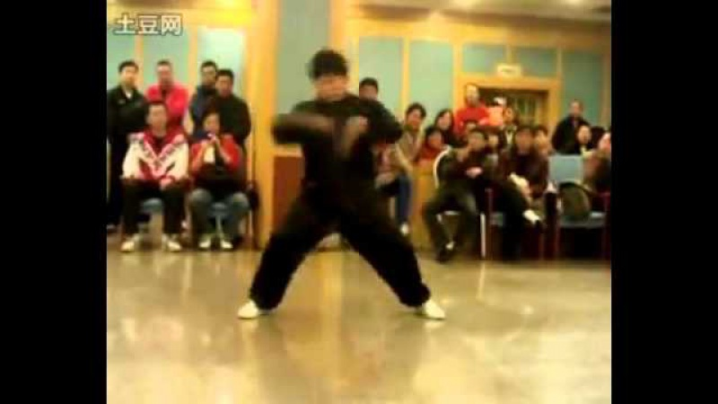 Chenyu demonstrates flowing style practice of Chen Taijiquan 74 combination 陈氏太极拳