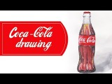 Coca-cola рисунок гуашью и акварелью / Coca-cola drawing timelapse