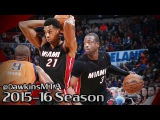 Dwyane Wade & Hassan Whiteside Full Highlights 2016.01.17 at Thunder - 36 Pts Combined