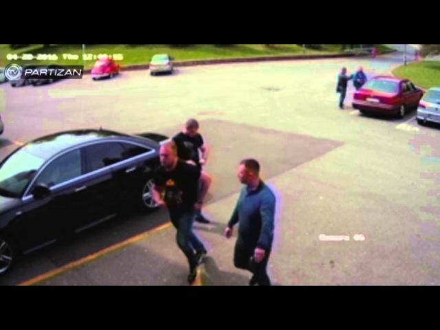 TV Partizan: Nemontirani snimak napada na generalnog direktora FK Partizan Miloša Vazuru