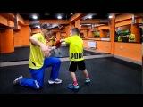 Тренировка по боксу с ребёнком