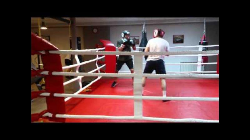 Спарринг. Тренер Акавов Зайнал vs Илья.