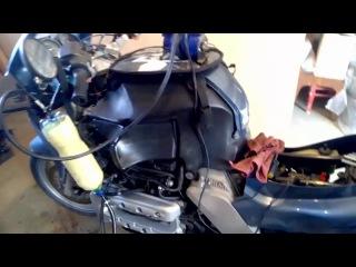 Промывка инжектора мотоцикла BMW K1200RS ЛАВРом своими руками