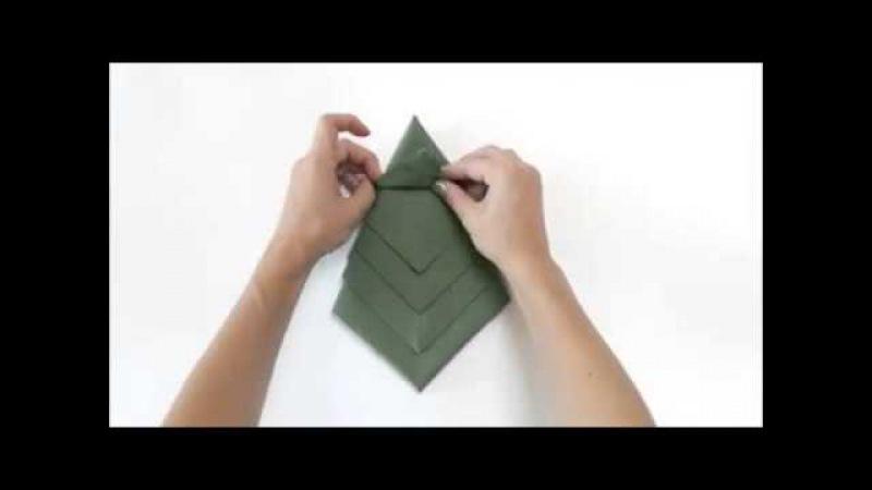 Як зробити ялинку з серветки