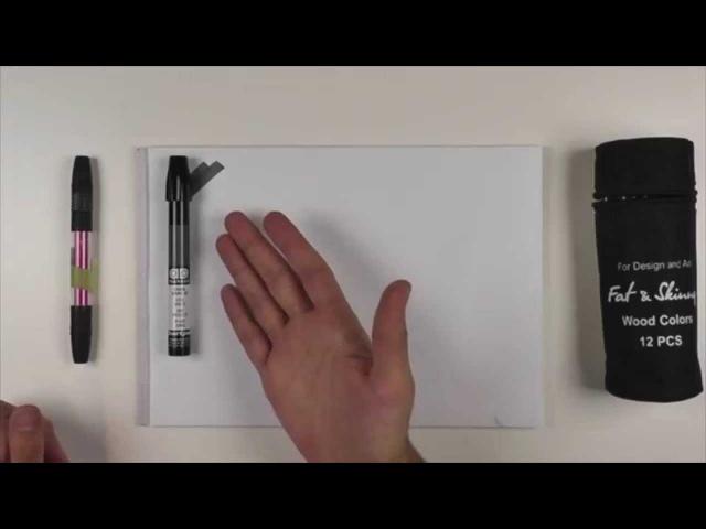 Как рисовать маркерами Маркеры для дизайна