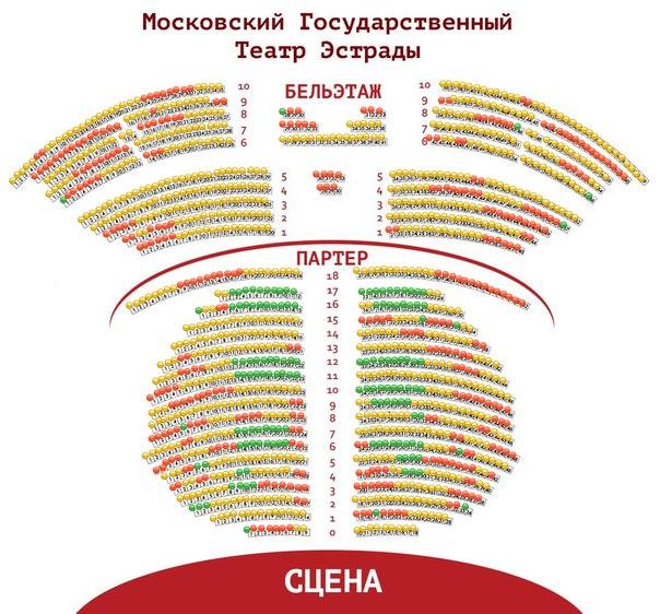 Театр Эстрады, схема зала