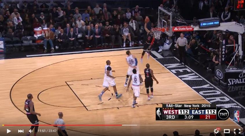 Russell Westbrook на Матче Всех Звезд НБА 2015
