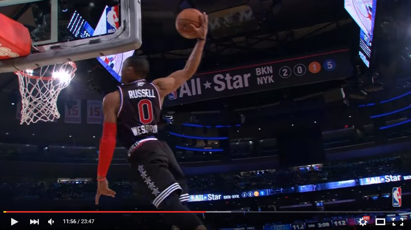 Russell Westbrook 2015 матч всех звезд