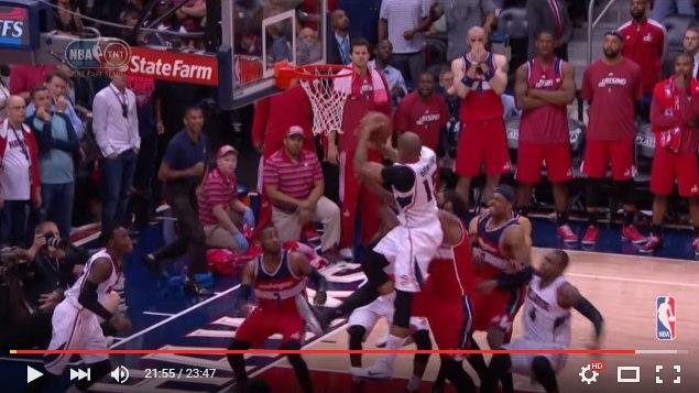 Эл Хорфорд подбор и 2 очка в плей-офф НБА 2015