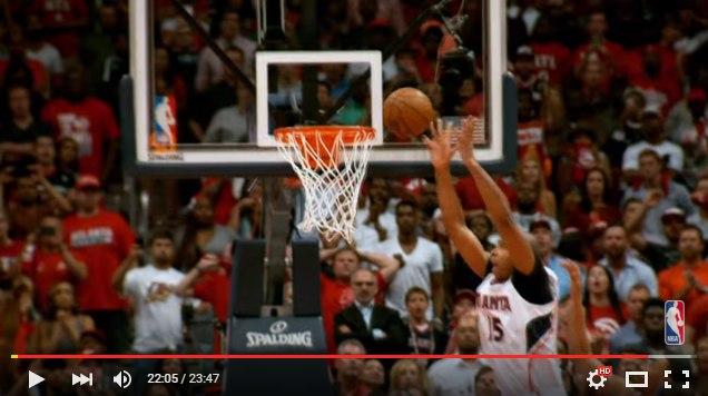 Решайщий бросок в матче плей-офф НБА 2015