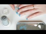 Зимний новогодний дизайн ногтей - Омбре с блестками - маникюр гель лак - уроки дизайна Донецк