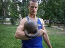 Гиря 32 кг. 700 подъемов за 30 мин.Jerk gira KB 32 kg 30 min. 700 reps.