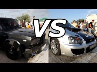 ВАЗ 2107 турбо 300 л.с  vs Subaru Impreza WRX STI 300+ л.с