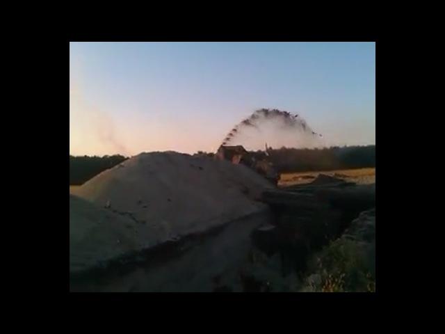 Минометный обстрел по ВСУ во время возведения фортификаций. с.Веселая Гора