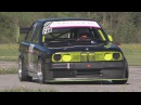 FAST BMW 325 E30 with 3.0 Engine, Side Pipe, Sequential Gearbox, onboard St-Ursanne - Les Rangiers